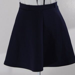 Forever 21 Navy Blue Circle Skirt with Zipper